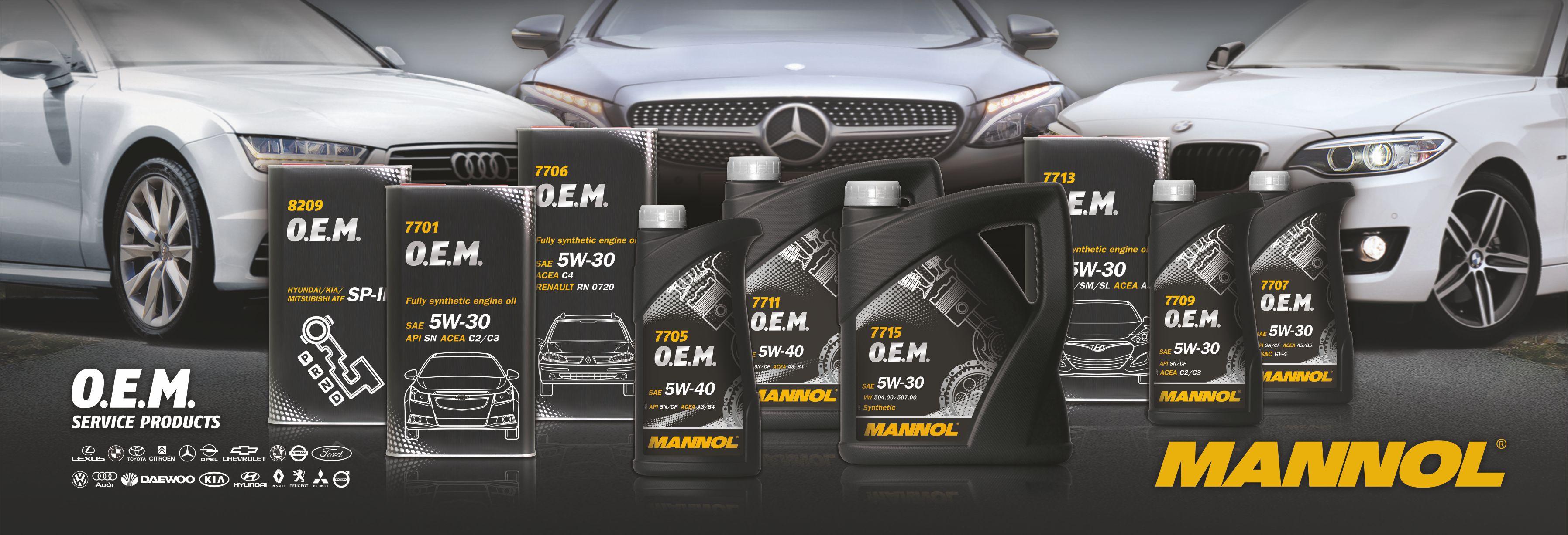 O.E.M. motorové oleje Mannol
