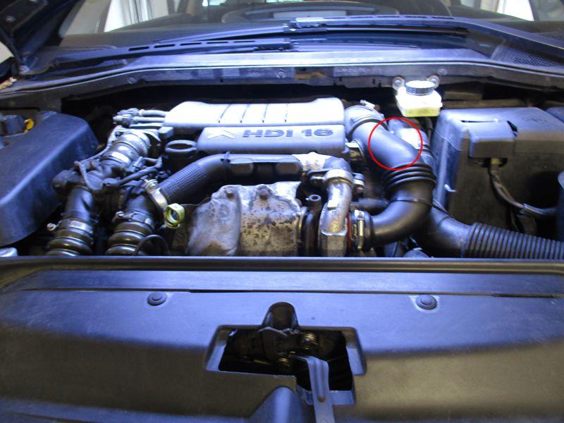 umisteni palivového filtru citroen 1.6hdi 16v