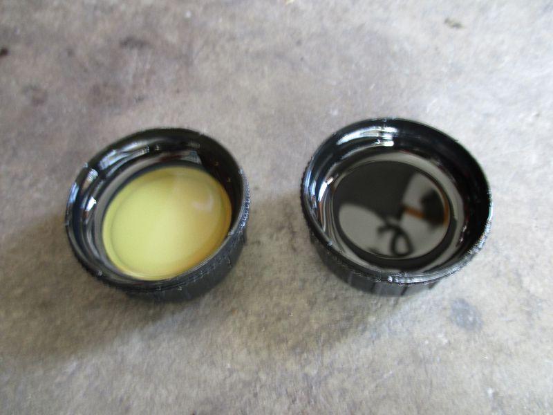 novy a starý převodový olej