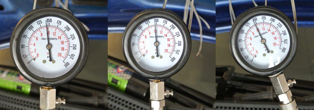 komprese motoru po proplachu