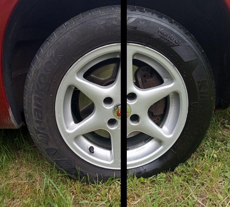 sprej na oživení pneumatik